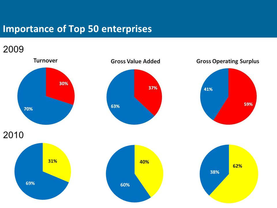 Importance of Top 50 enterprises 2009 2010