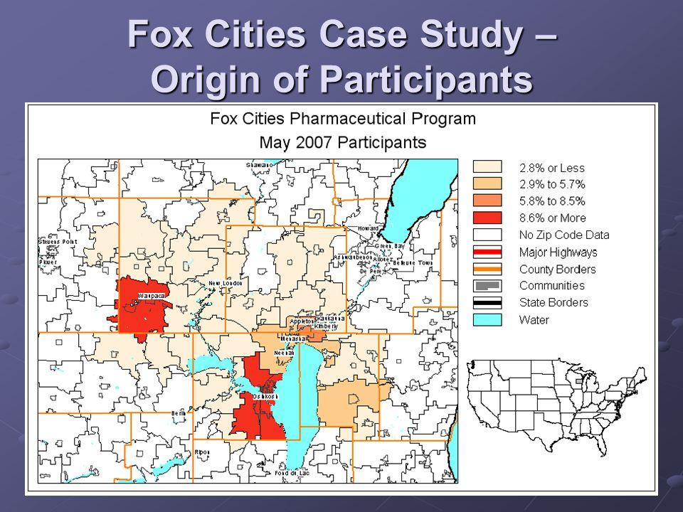 Fox Cities Case Study – Origin of Participants