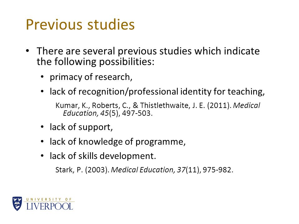 Current study Clinical academics, who contribute actively to the medical curriculum, were interviewed (about 1 hour).