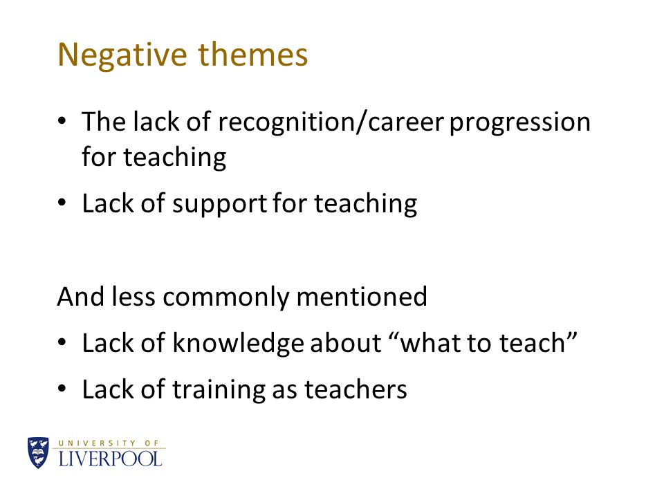 Positive themes Students Apprentices Role model Making things better