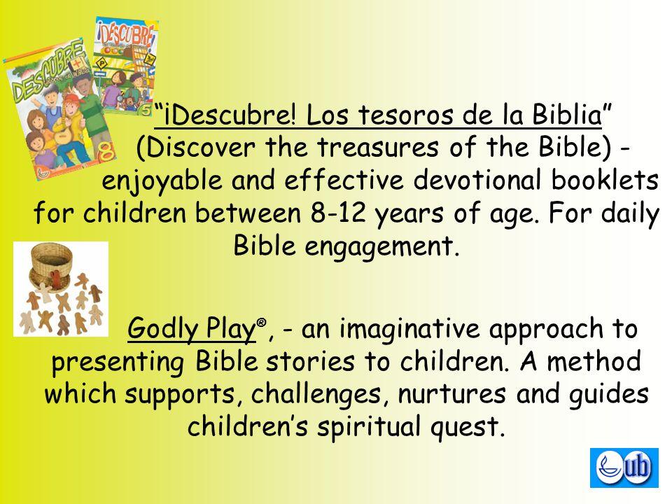 """¡Descubre! Los tesoros de la Biblia"" (Discover the treasures of the Bible) - enjoyable and effective devotional booklets for children between 8-12 ye"