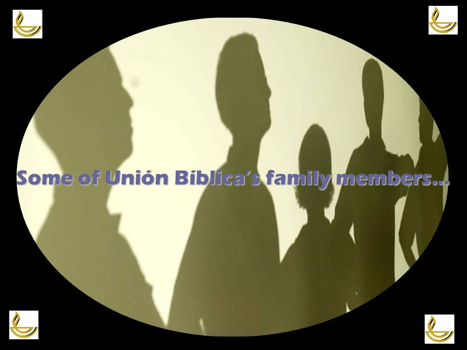 Some of of Unión Bíblica's family members…