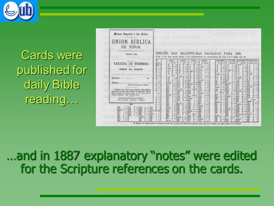 …and in 1887 explanatory notes were edited for the Scripture references on the cards.