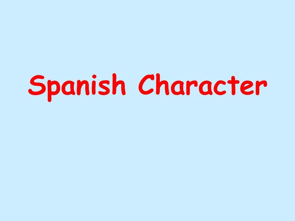 Spanish Character