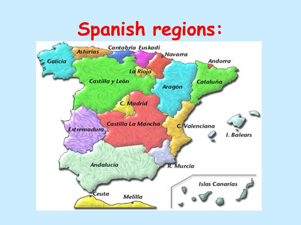 Spanish regions: