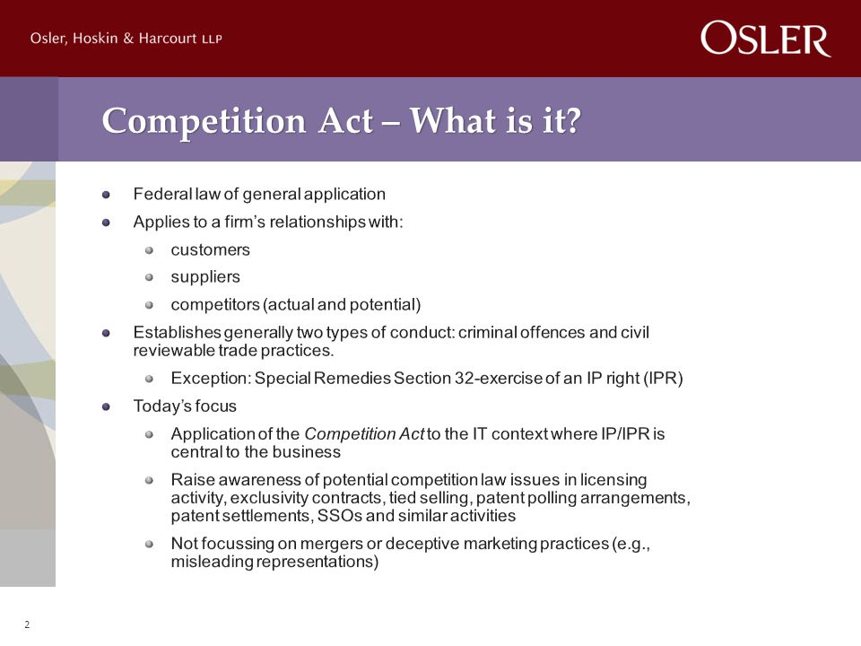 Competition Act – What is it 2