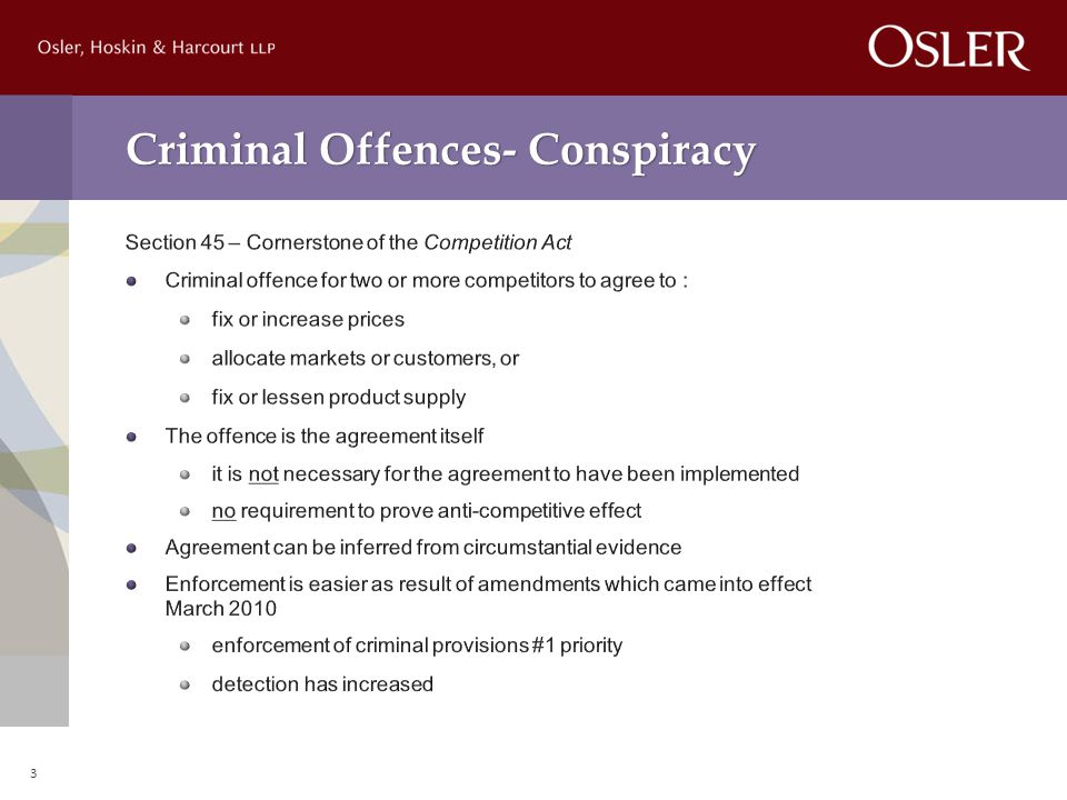 Criminal Offences- Conspiracy 3