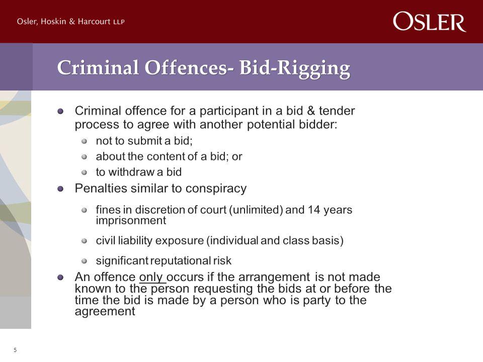 Criminal Offences- Bid-Rigging 5