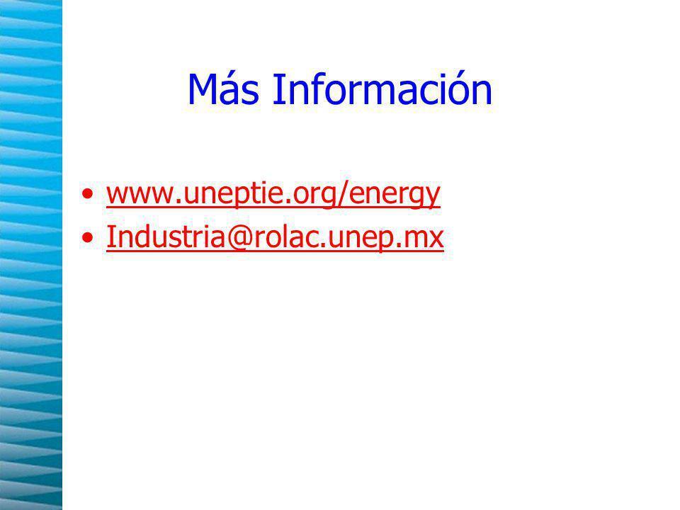 Más Información www.uneptie.org/energy Industria@rolac.unep.mx