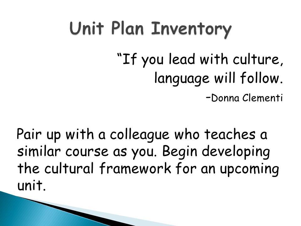 Workshop on Culture featuring Professor Alvino Fantini