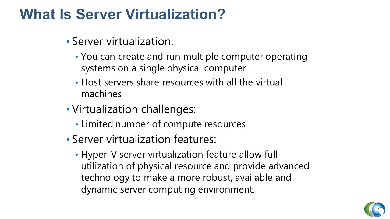 Deploying Hyper-V Hosts to Bare-Metal Computers Physical computer without an operating system installed is installed AND deployed as physical host Requirements: Network adapter PXE-enabled; PXE server in domain BIOS set to PXE-boot first BMCs have proper credentials Host profile must already exist MAC address discovered for static IP assignment; VMM SP1 and R2 offer Deep Discovery – automates IP assignment Uses Fabric workspace, Add Resource Wizard, to launch deployment