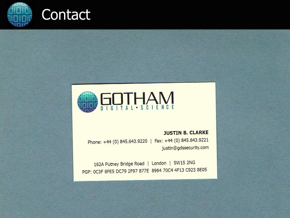 12 ©2007 Gotham Digital Science Ltd Contact