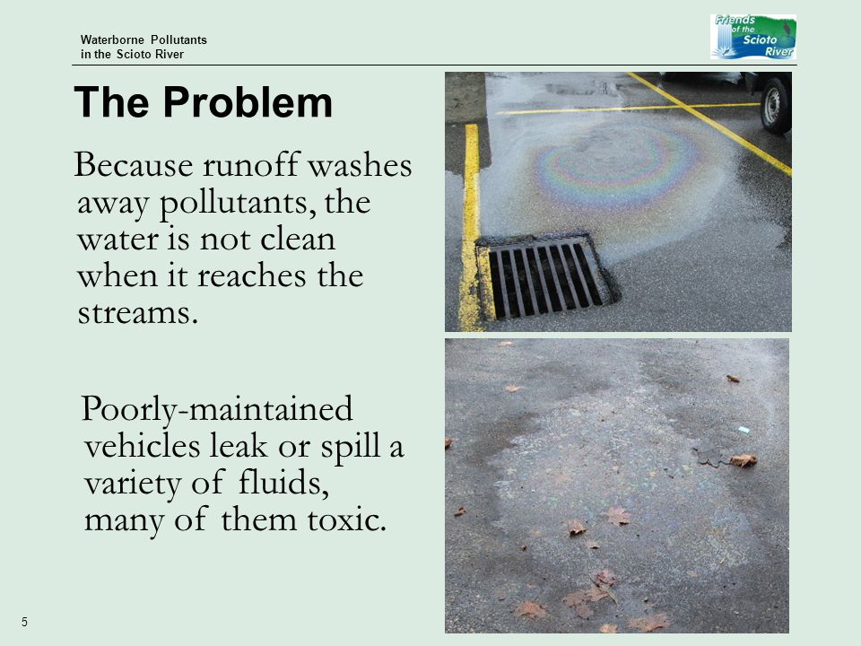 Waterborne Pollutants in the Scioto River 16 Communities and groups are beginning to try to reduce their pressures on the watershed.
