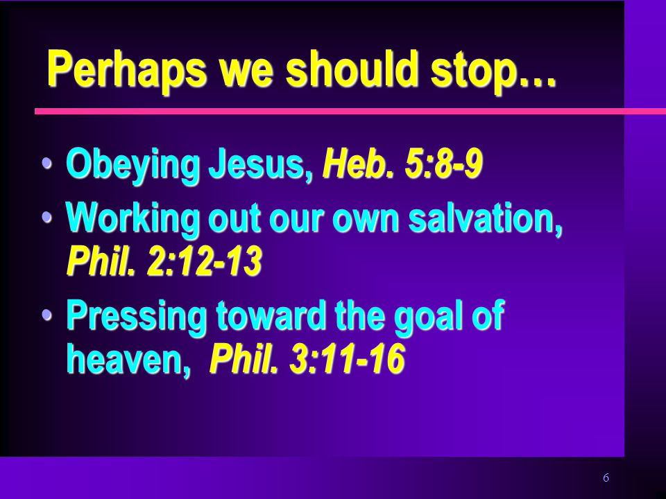 7 Perhaps we should stop… Hearing & following Jesus, Jno.