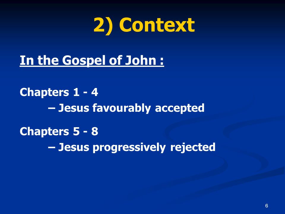 37 5) Conclusion Jesus' reaction to those who rejected Him: Jesus hid himself, slipping away from the temple grounds.