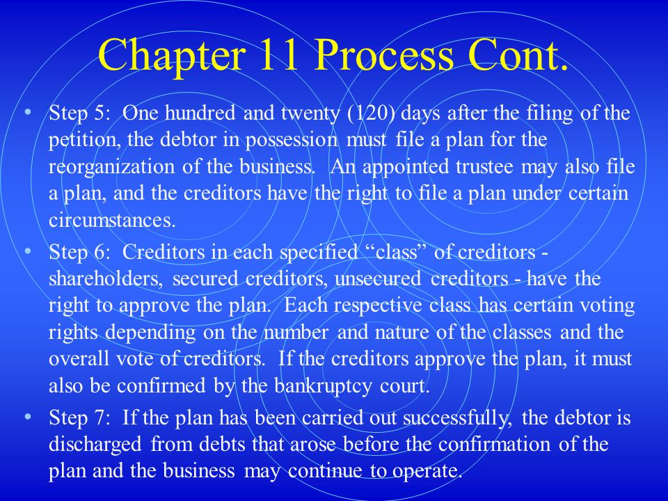 Chapter 11 Process Cont.