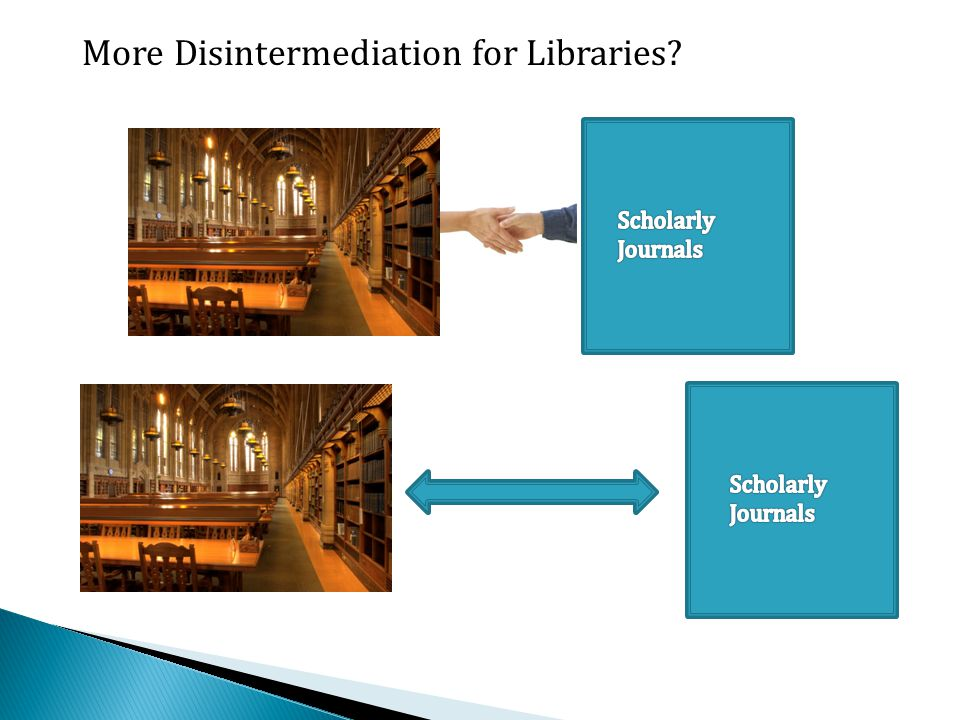 More Disintermediation for Libraries