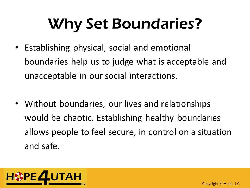 Why Set Boundaries.