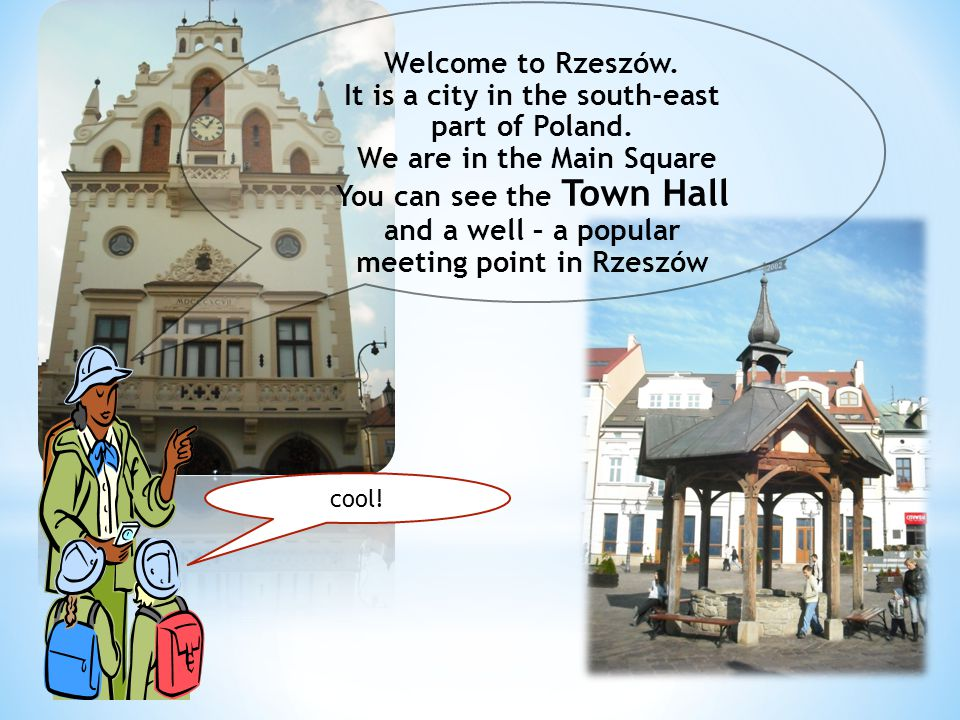 Welcome to Rzeszów.It is a city in the south-east part of Poland.