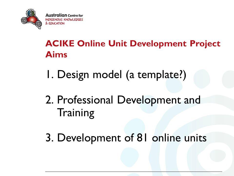 Students Educational Designers Educational Designers Developers/ Academics Rationale for Templates ACIKE