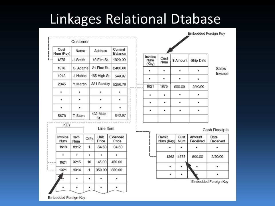 Linkages Relational Dtabase