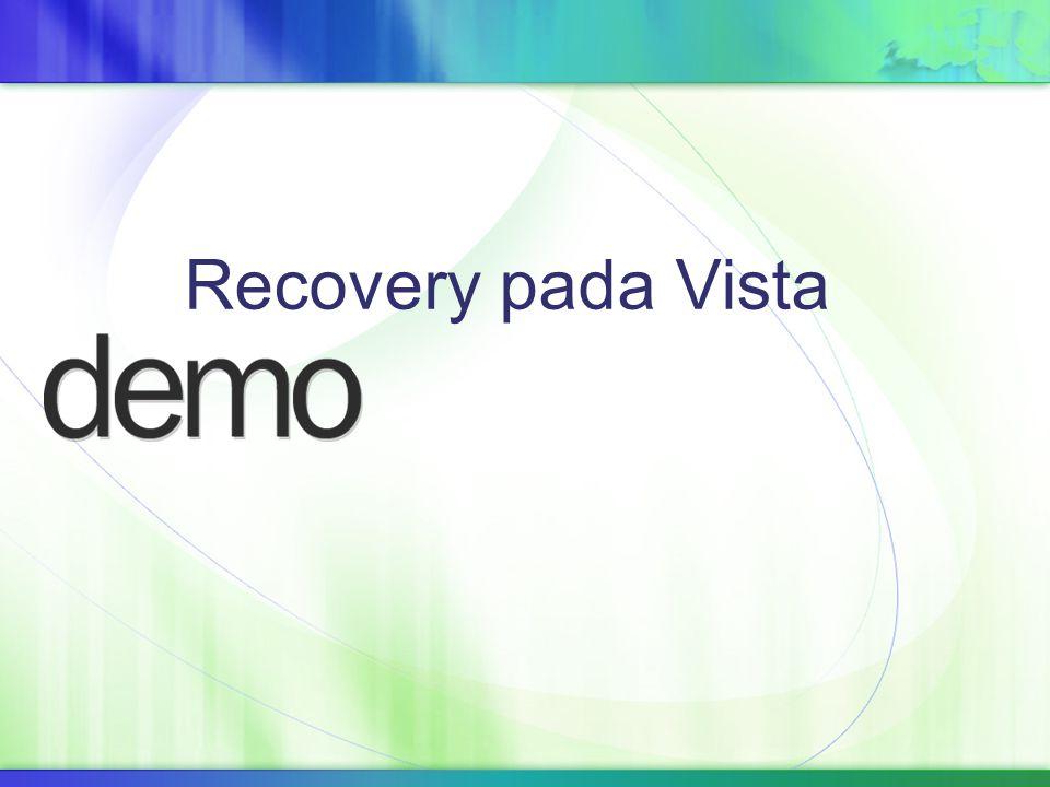 Recovery pada Vista