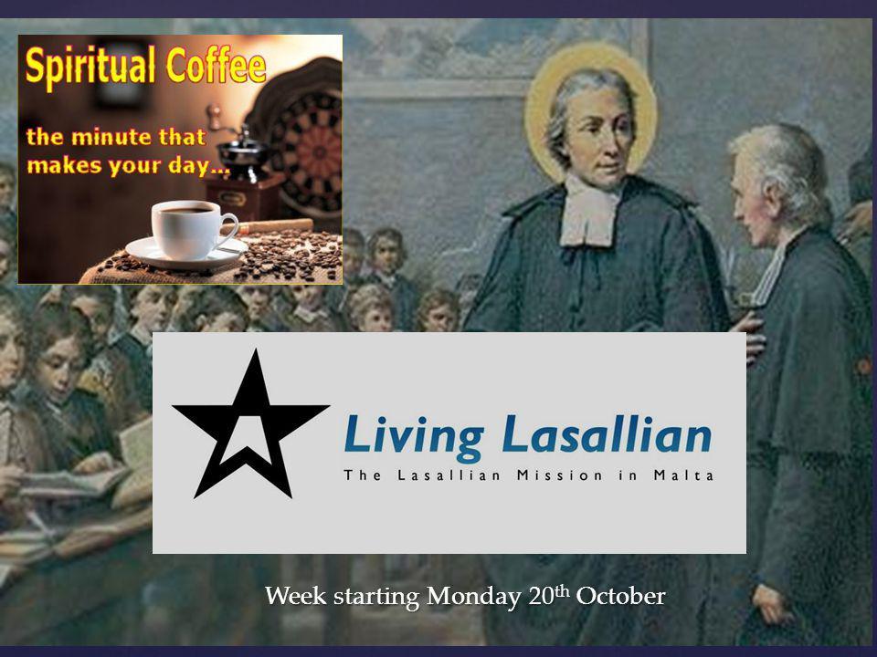 Week starting Monday 20 th October