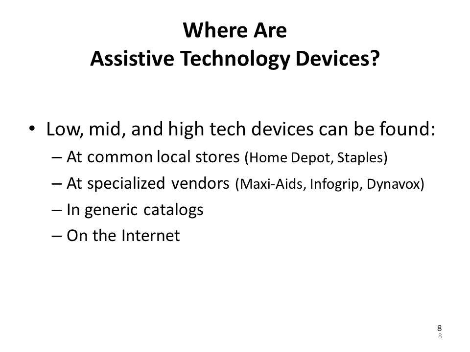 Pennsylvania s Initiative on Assistive Technology (PIAT) P ublic awareness, information and assistance I ncreasing access through demonstrations and device lending A cquisition of devices and services, including device reuse programs and free adapted telephones T raining and technical assistance 88