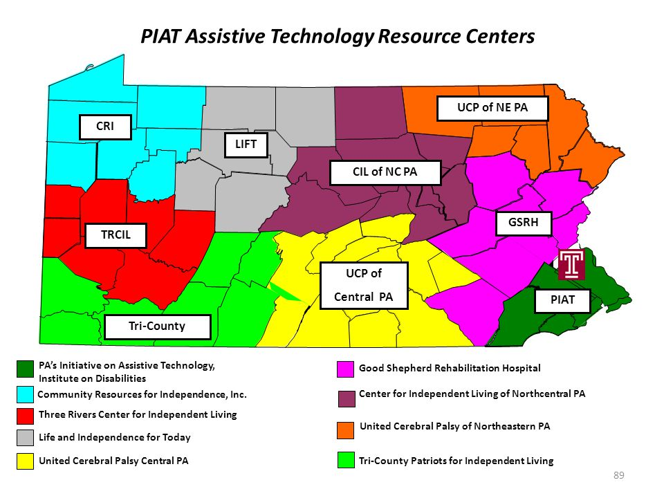 Pennsylvania's Initiative on Assistive Technology (PIAT) P ublic awareness, information and assistance I ncreasing access through demonstrations and d