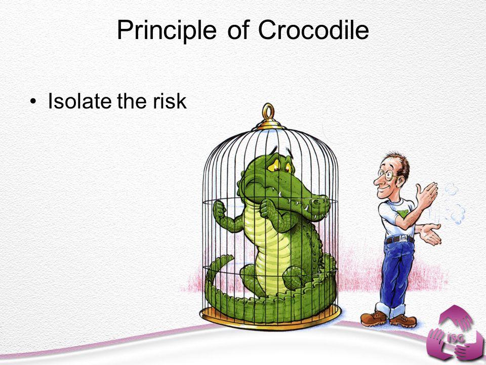 Principle of Crocodile Isolate the risk