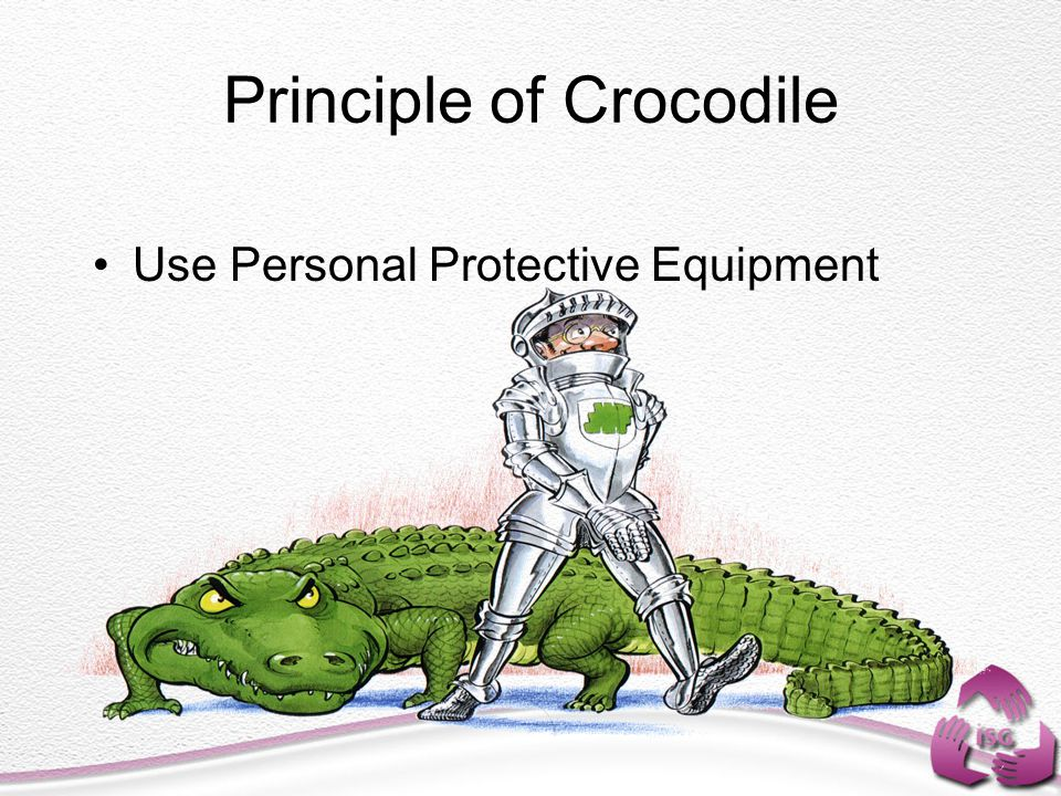 Principle of Crocodile Use Personal Protective Equipment