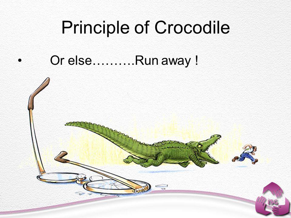 Principle of Crocodile Or else……….Run away !