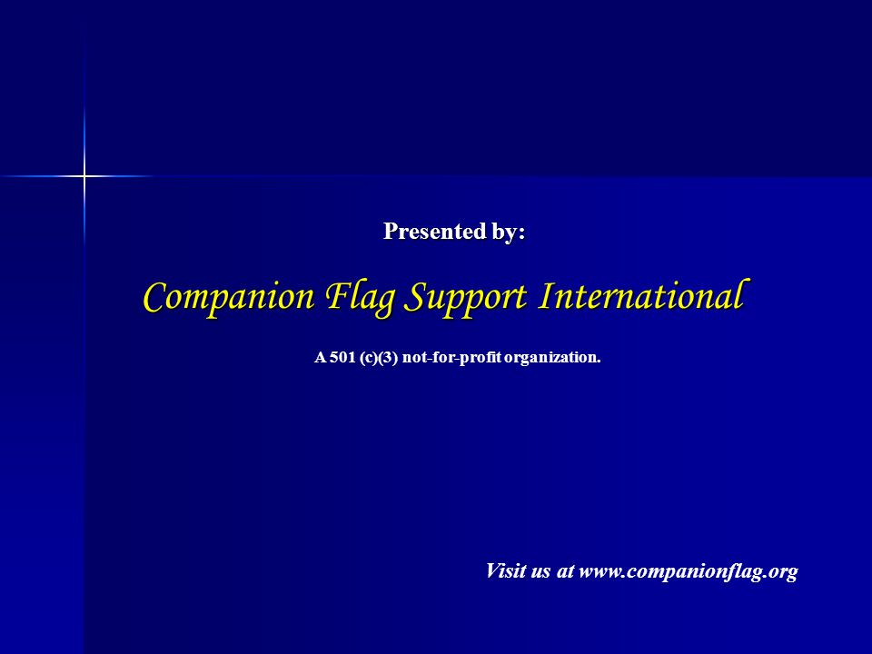 What is the Companion Flag.Why would we want it at our school.
