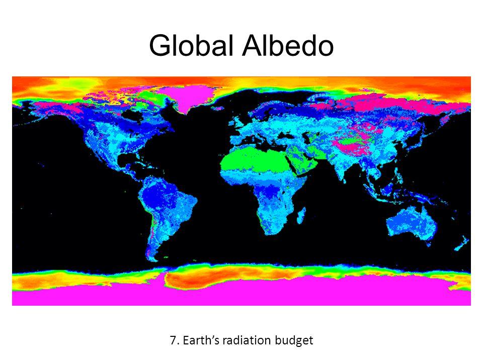 Global Albedo 7. Earth's radiation budget