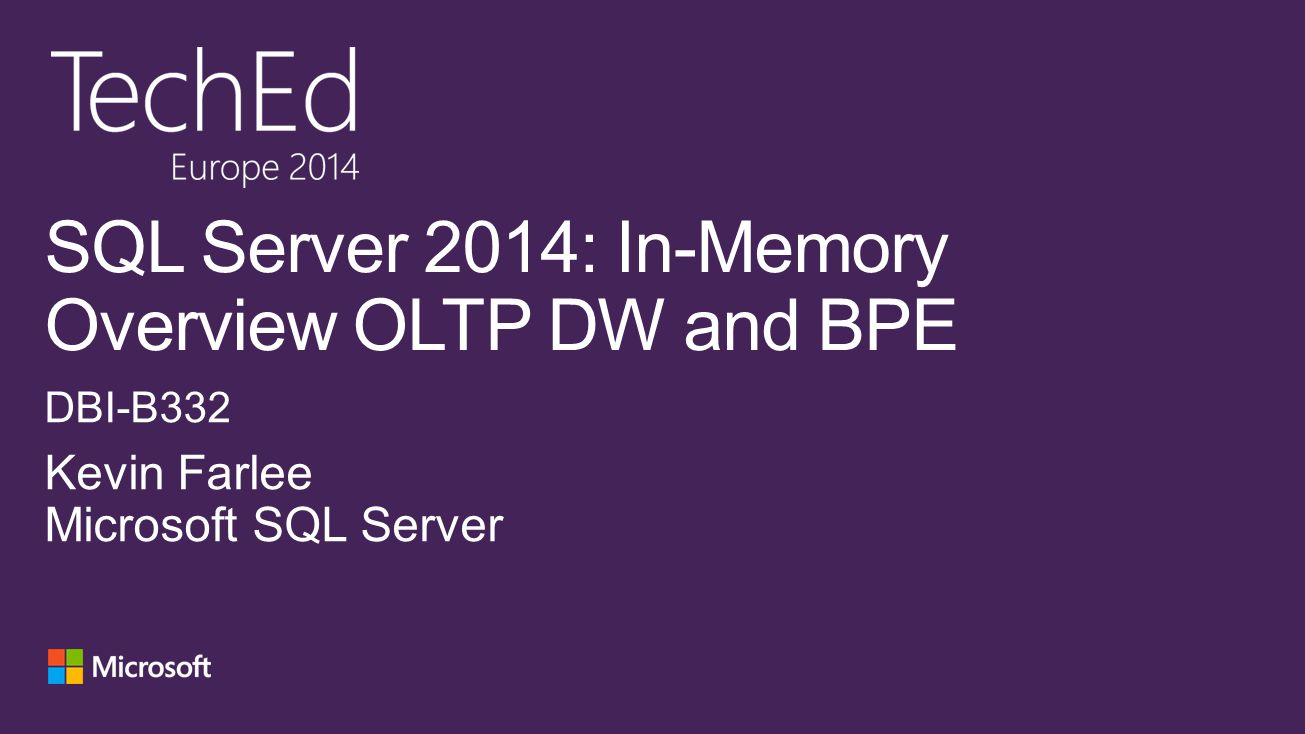 In-Memory Technologies Enhanced High Availability New Hybrid Scenarios In-Memory OLTP 5-25x performance gain for OLTP integrated into SQL Server In-Memory DW 5-25x performance gain and high data compression Updatable and clustered SSD Bufferpool Extension 4-10X of RAM and up to 3X performance gain transparently for apps Always On Enhancements Increased availability and improved manageability of active secondaries Online Database Operations Increased availability for index/partition maintenance Backup to Azure Easy to implement and cost effective Disaster Recovery solution to Azure Storage HA to Azure VM Easy to implement and cost effective high availability solution with Windows Azure VM Deploy to Azure Deployment wizard to migrate database Better together with Windows Server WS2012 ReFS support Online resizing VHDx Hyper-V replica Windows Blue support Extending Power View Enable Power View on existing analytic models and support new multi- dimensional models.