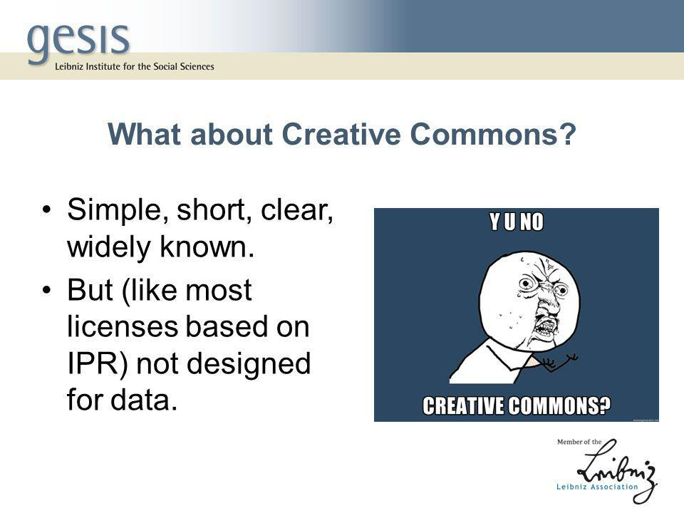 What about Creative Commons. Simple, short, clear, widely known.