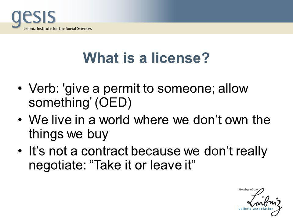 What is a license.