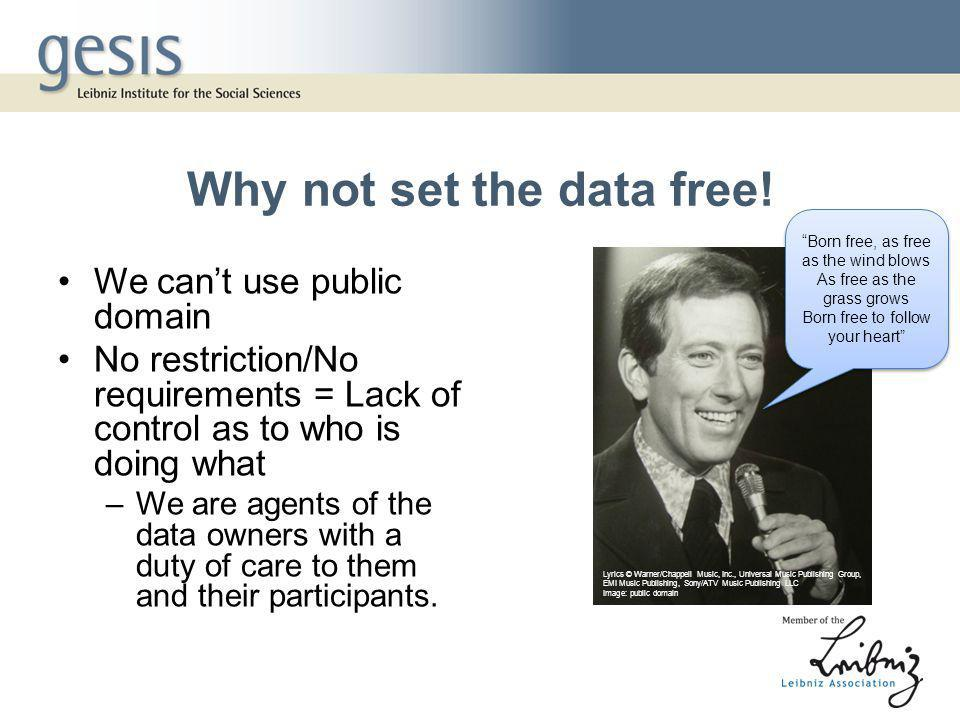 Why not set the data free.