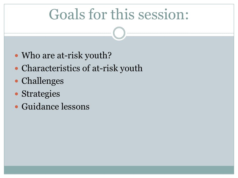 Who are at-risk youth?at-risk youth