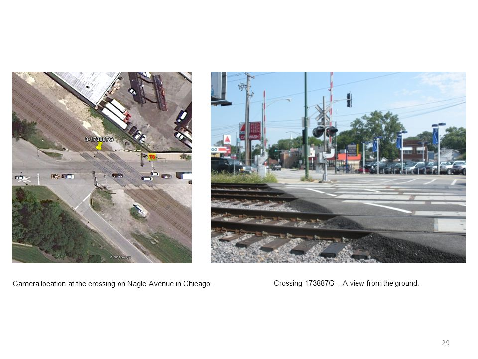 29 Camera location at the crossing on Nagle Avenue in Chicago.