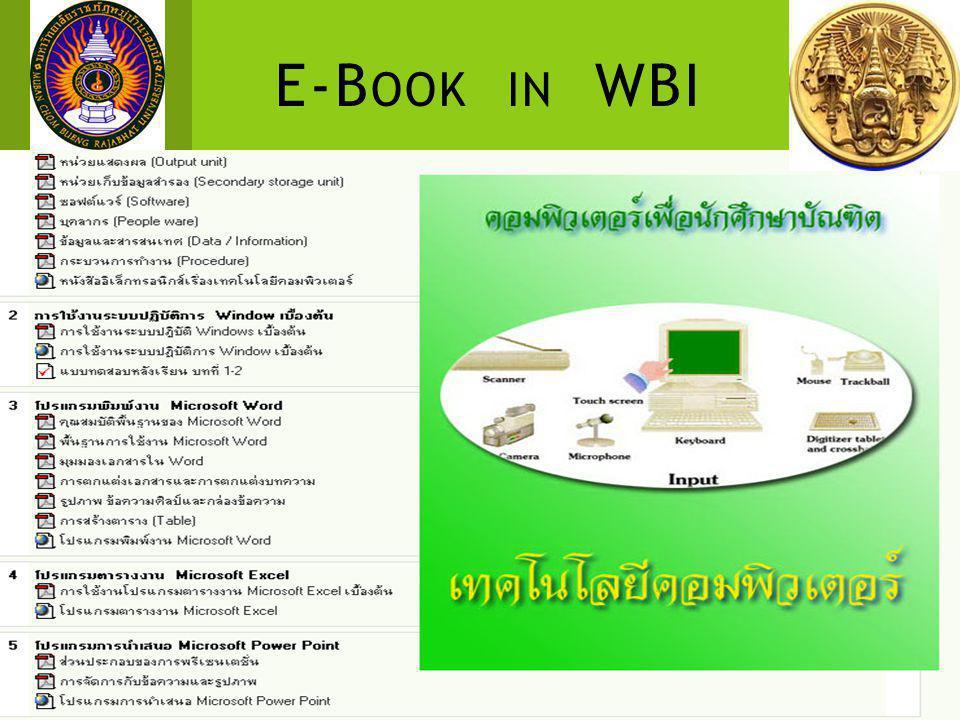 E-B OOK IN WBI