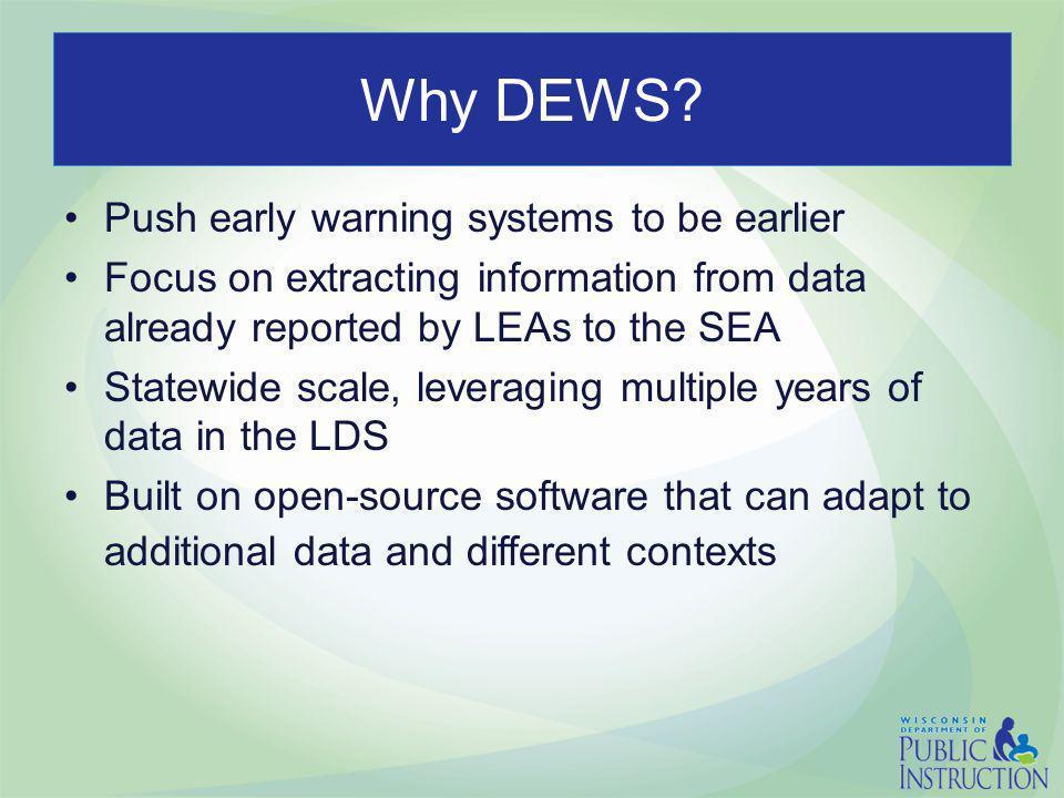 Why DEWS.