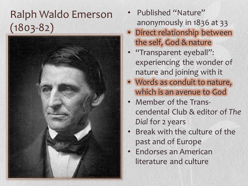 Ralph Waldo Emerson (1803-82)