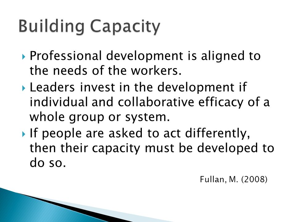  Professional development is aligned to the needs of the workers.