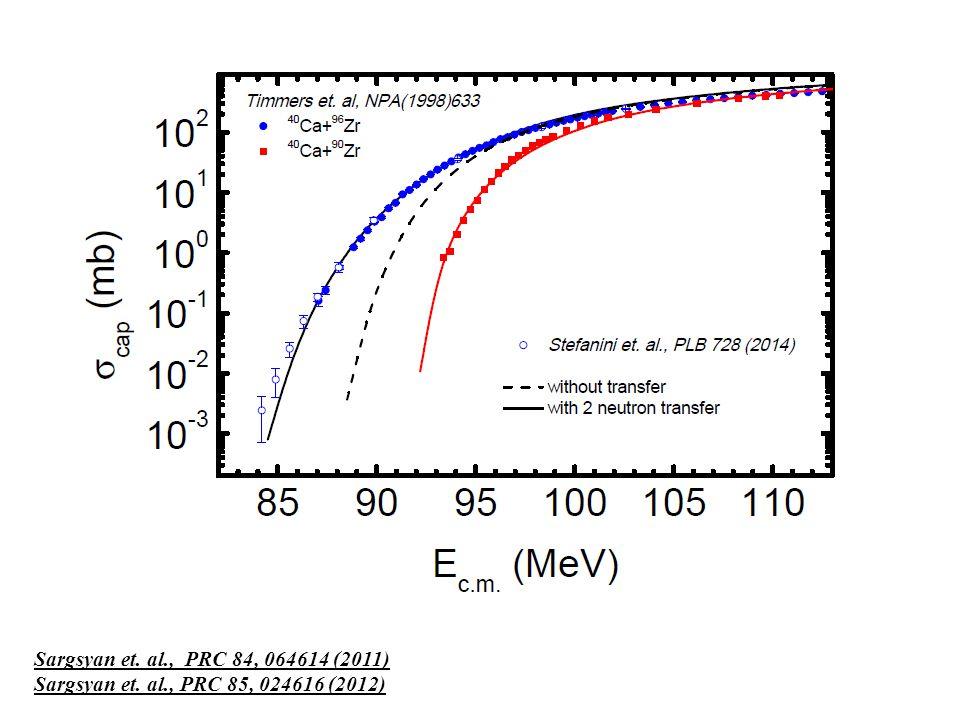 Sargsyan et. al., PRC 84, 064614 (2011) Sargsyan et. al., PRC 85, 024616 (2012)