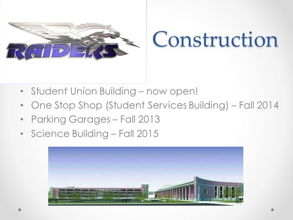 Construction Student Union Building – now open.