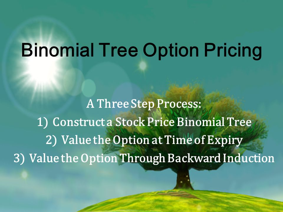 Three Guys, One Method John Cox, Stephen Ross, and Mark Rubinstein published a paper detailing their method in 1979 Option Pricing: A Simplified Approach A discrete, numerical alternative to the Black Scholes PDE using relatively simple techniques No Calculus required!