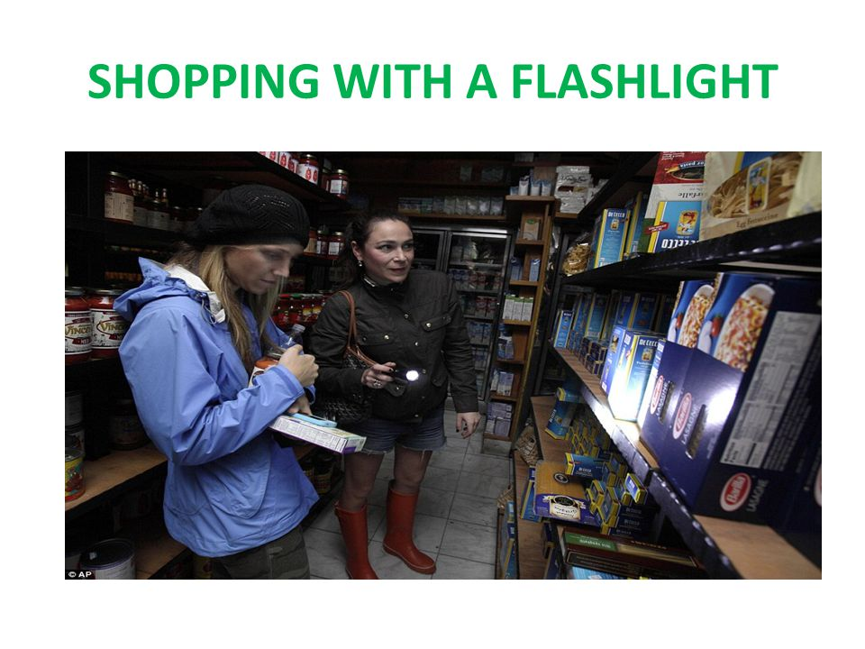 SHOPPING WITH A FLASHLIGHT
