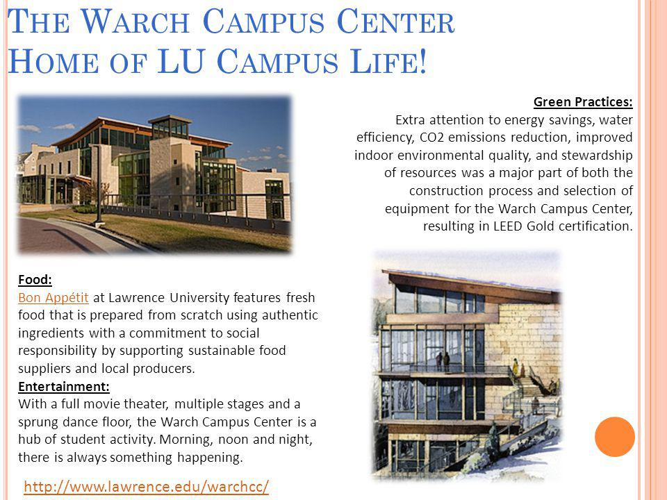 A LTERNATIVE H OUSING O PTIONS In addition to the seven residence halls which house RHDs, the Lawrence University Campus Life Office also provides students with the option of living in small group, formal organization-based or theme-based housing.