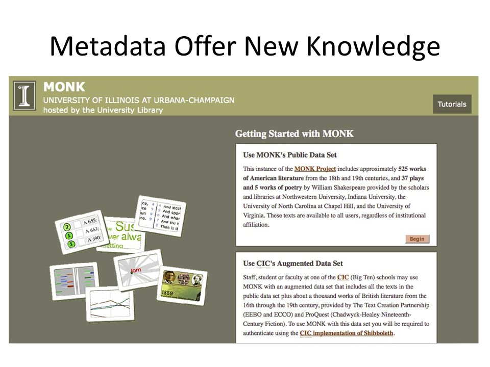Metadata Offer New Knowledge